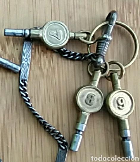 Herramientas de relojes: LLAVES ANTIGUAS DE RELOJ DE BOLSILLO - Foto 4 - 212117853