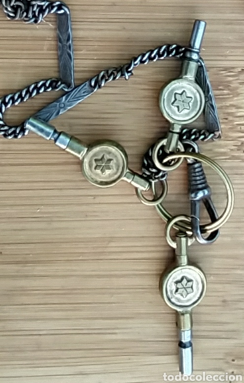 Herramientas de relojes: LLAVES ANTIGUAS DE RELOJ DE BOLSILLO - Foto 5 - 212117853