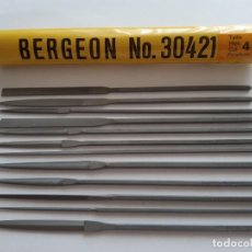 Strumenti di orologiaio: JUEGO DE 12 LIMAS BERGEON. Lote 212406772