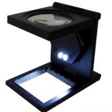 Herramientas de relojes: LUPA CUENTA HILOS 10X DE AUMENTO CON LUZ LED - NUEVA. Lote 237756470
