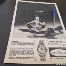 Herramientas de relojes: RELOJ UNIVERSAL GENEVE ANUNCIO PUBLICIDAD REVISTA 1967 POSIBLE RECOGIDA EN MALLORCA. Lote 213759445