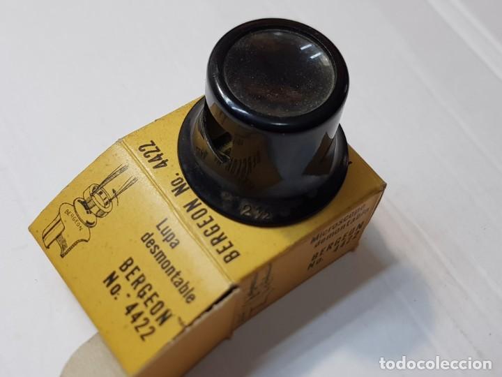 Herramientas de relojes: Relojero Lupa Bergeon ref.4422 N°2 ,1/2 en caja original - Foto 2 - 218863980