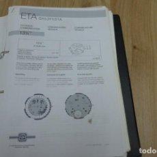 Herramientas de relojes: ETA G10.211/21A. COMUNICACIÓN TÉCNICA. Lote 221988653