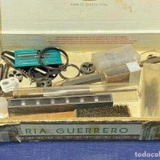 Herramientas de relojes: CONJUNTO RELOJERO UTILES MUELLES HERRAMIENTAS CALIBRE VER FOTOS 4,5X25X15,5CMS. Lote 221998621