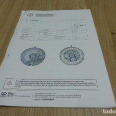 Herramientas de relojes: ETA 2000.1, COMUNICACIÓN TÉCNICA.. Lote 222048153