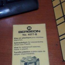 Herramientas de relojes: C3C - BERGEON 4077 B SUJETA CAJAS DE RELOJ. Lote 230849180