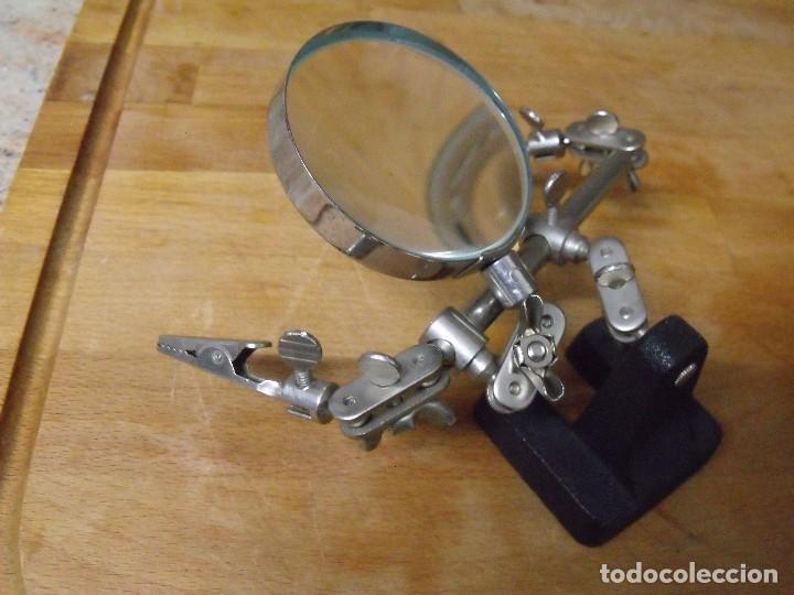 Herramientas de relojes: HERRAMIENTA DE RELOJERIA NUMISMATICA SELLOS CON LUPA Y PINZAS- LOTE 338 - Foto 4 - 233439270
