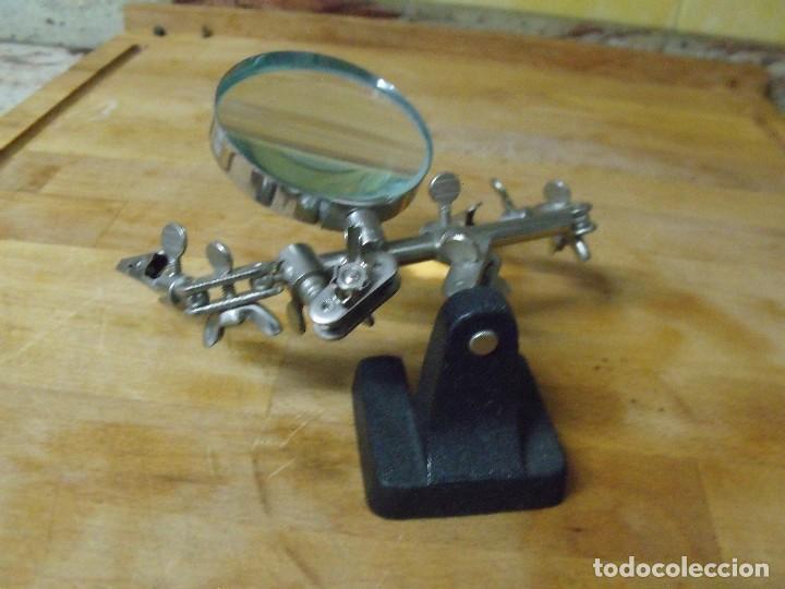 Herramientas de relojes: HERRAMIENTA DE RELOJERIA NUMISMATICA SELLOS CON LUPA Y PINZAS- LOTE 338 - Foto 9 - 233439270