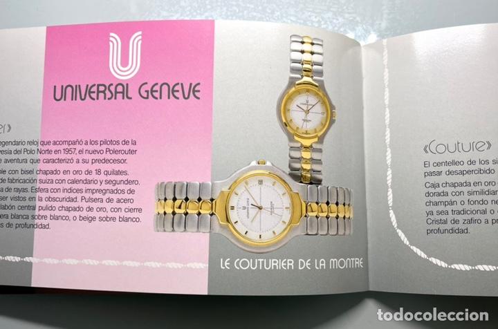 Herramientas de relojes: Folleto publicidad relojes Universal Geneve antiguo - Foto 4 - 234999565