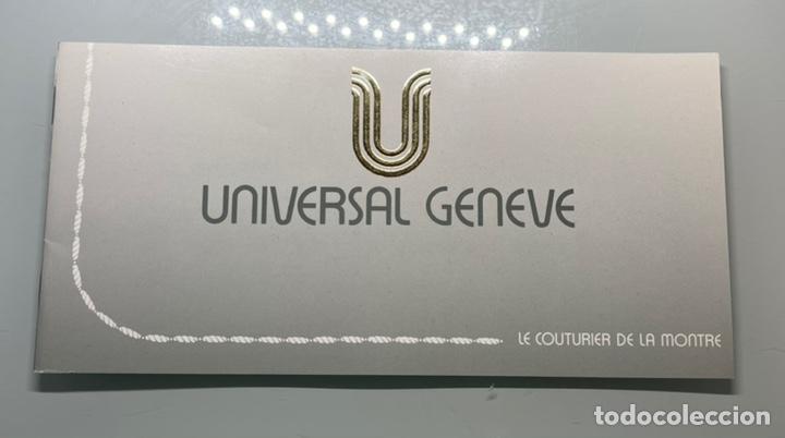 FOLLETO PUBLICIDAD RELOJES UNIVERSAL GENEVE ANTIGUO (Relojes - Herramientas y Útiles de Relojero )