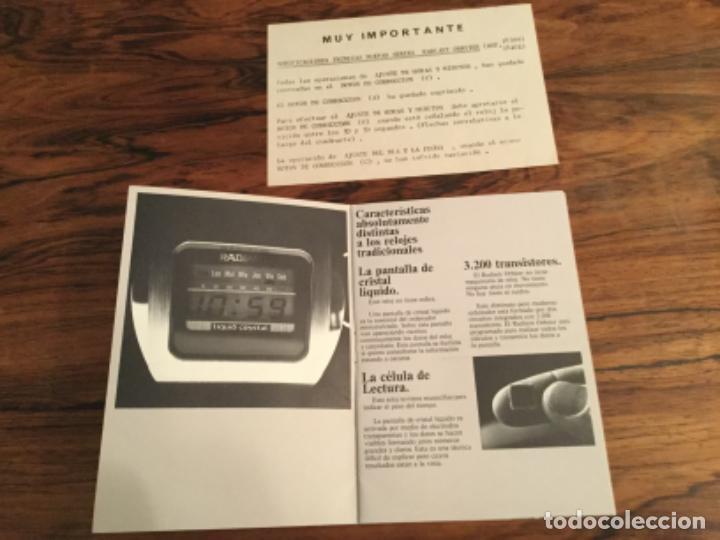Herramientas de relojes: CATALOGO INSTRUCCIONES RELOJ RADIANT ORBITER. RETRO VINTAGE - Foto 2 - 235131720
