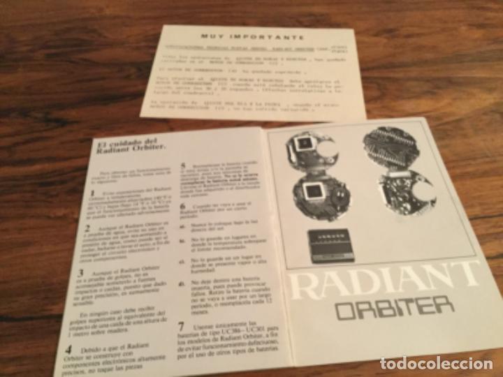 Herramientas de relojes: CATALOGO INSTRUCCIONES RELOJ RADIANT ORBITER. RETRO VINTAGE - Foto 5 - 235131720