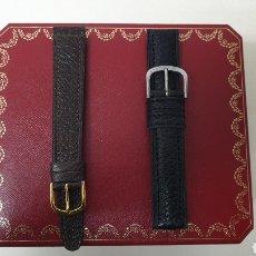 Herramientas de relojes: 2 PULSERAS DE PIEL AUTENTICA TALLA 18 A ESTRENAR. Lote 235215230