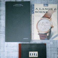 Herramientas de relojes: LOTE CASA A. LANGE SHOHNE ANUARIO ANNUAL BOOK 2006 GLASHUTTE 1/SA EDICION 2017 SPEZIAL PETER BRAUN. Lote 240664400