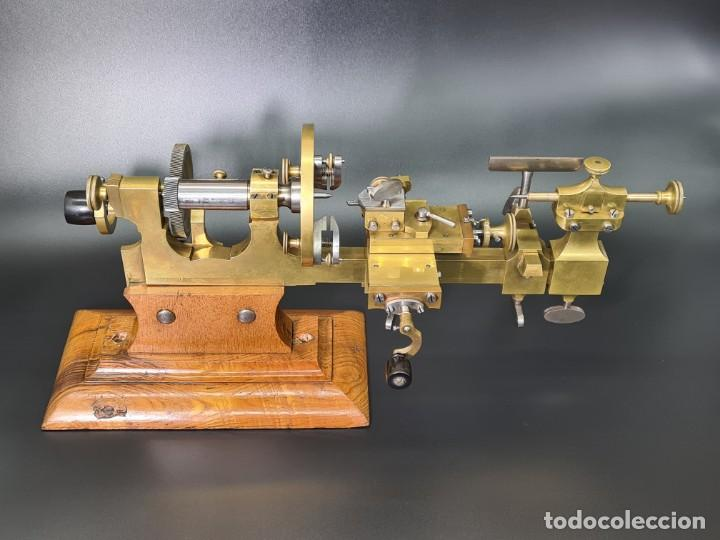 Herramientas de relojes: Antiguo Torno de Relojero S.XIX - Foto 2 - 244655680