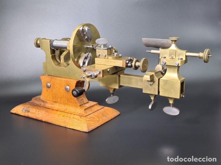 Herramientas de relojes: Antiguo Torno de Relojero S.XIX - Foto 3 - 244655680