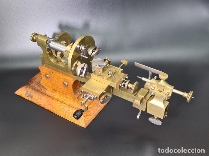 Herramientas de relojes: Antiguo Torno de Relojero S.XIX - Foto 4 - 244655680