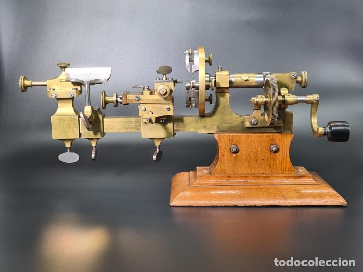 Herramientas de relojes: Antiguo Torno de Relojero S.XIX - Foto 6 - 244655680
