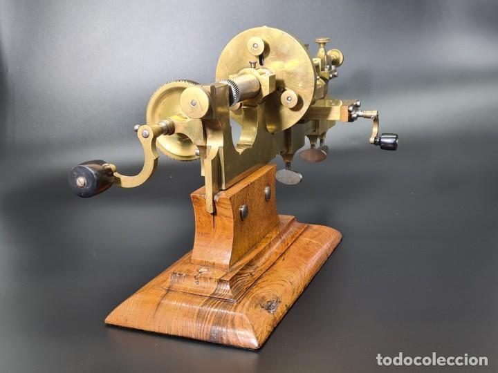 Herramientas de relojes: Antiguo Torno de Relojero S.XIX - Foto 8 - 244655680