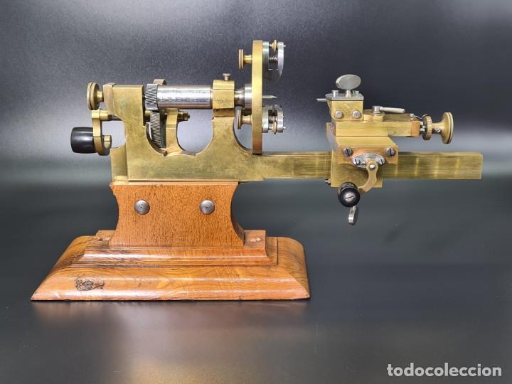 Herramientas de relojes: Antiguo Torno de Relojero S.XIX - Foto 9 - 244655680
