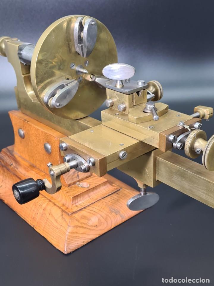 Herramientas de relojes: Antiguo Torno de Relojero S.XIX - Foto 10 - 244655680