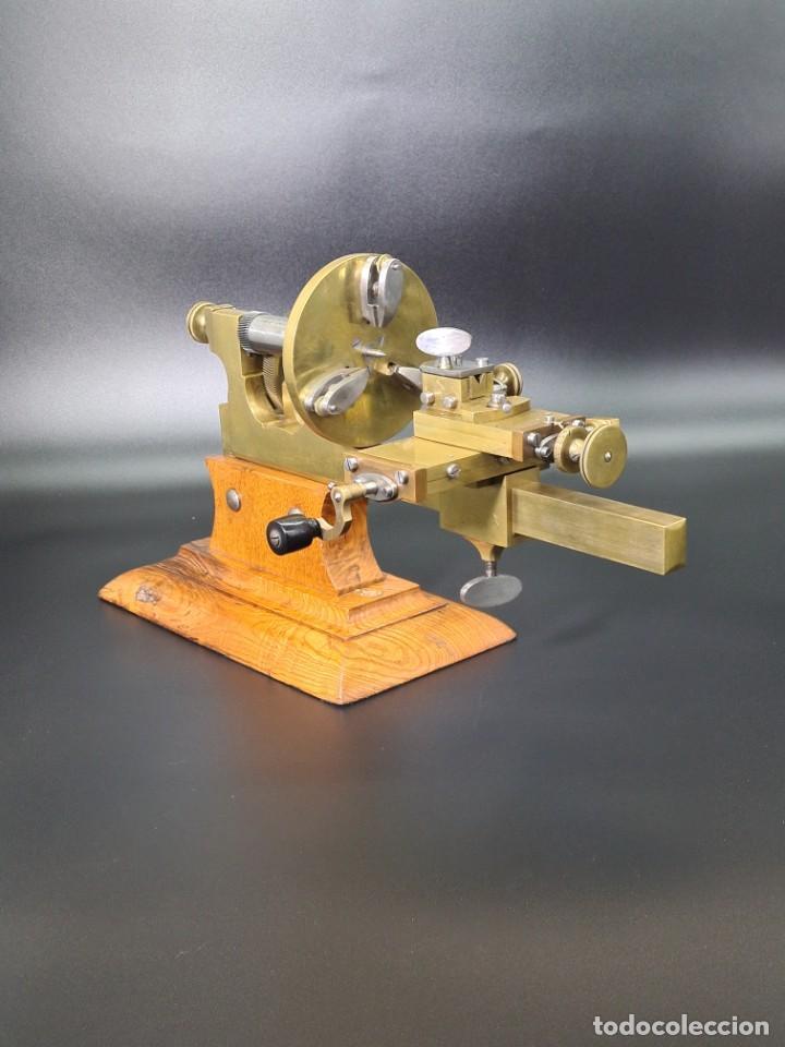 Herramientas de relojes: Antiguo Torno de Relojero S.XIX - Foto 11 - 244655680