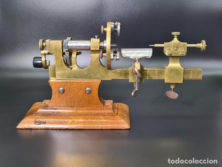 Herramientas de relojes: Antiguo Torno de Relojero S.XIX - Foto 12 - 244655680