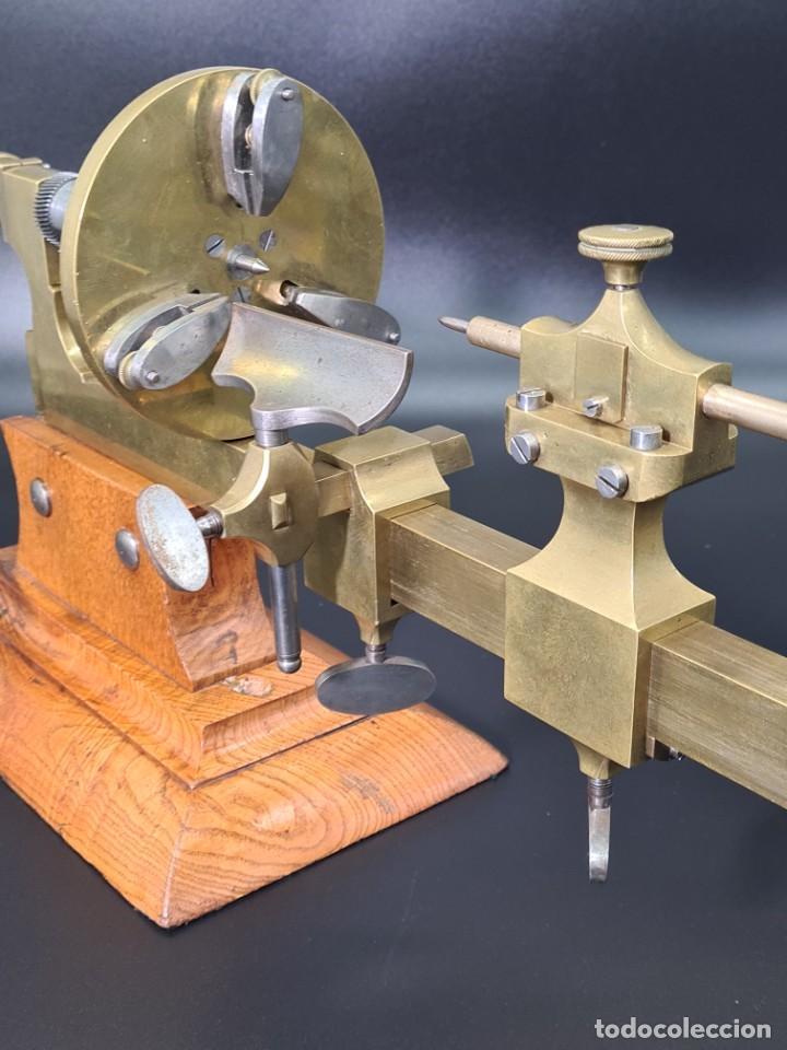 Herramientas de relojes: Antiguo Torno de Relojero S.XIX - Foto 13 - 244655680
