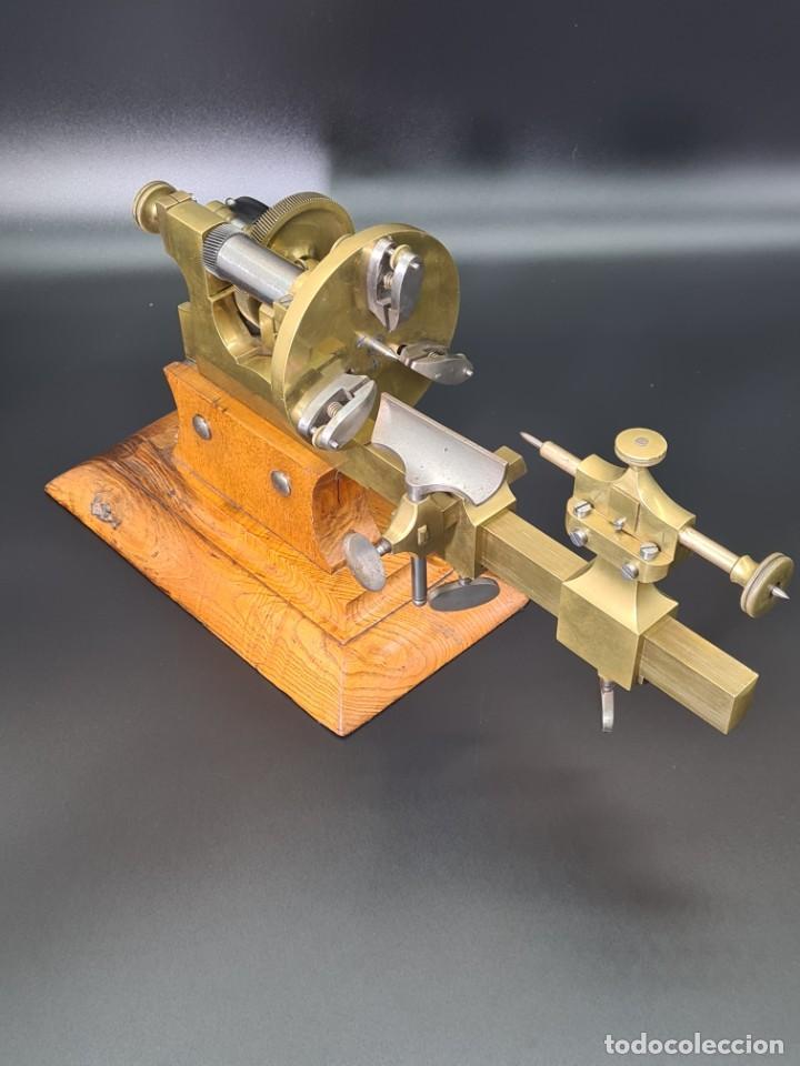 Herramientas de relojes: Antiguo Torno de Relojero S.XIX - Foto 14 - 244655680