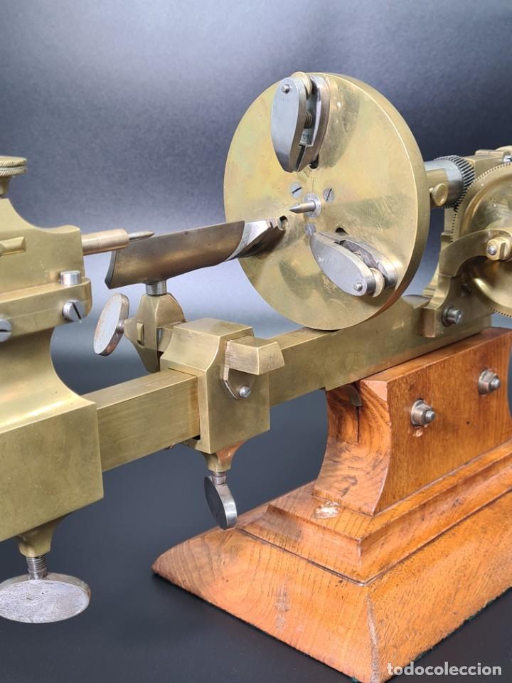 Herramientas de relojes: Antiguo Torno de Relojero S.XIX - Foto 15 - 244655680