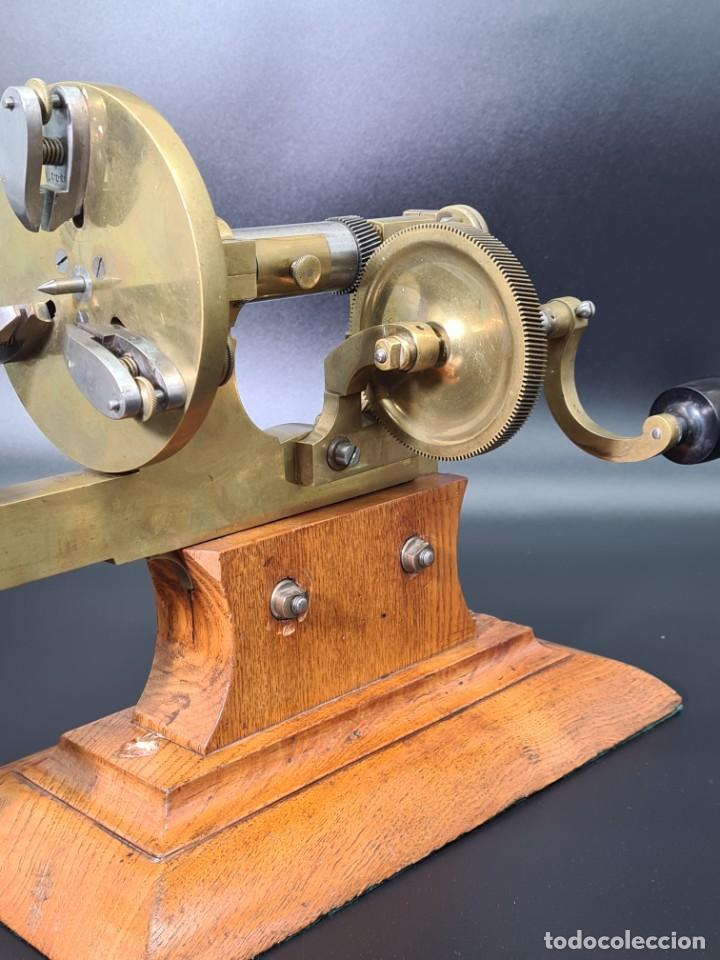 Herramientas de relojes: Antiguo Torno de Relojero S.XIX - Foto 16 - 244655680