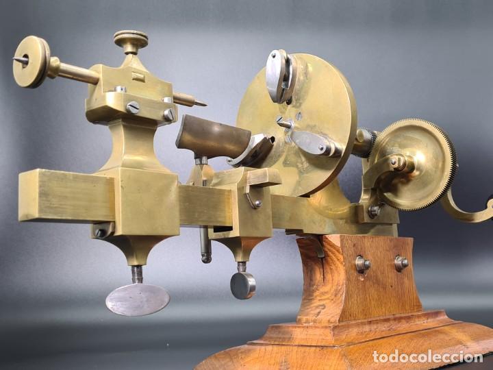 Herramientas de relojes: Antiguo Torno de Relojero S.XIX - Foto 17 - 244655680