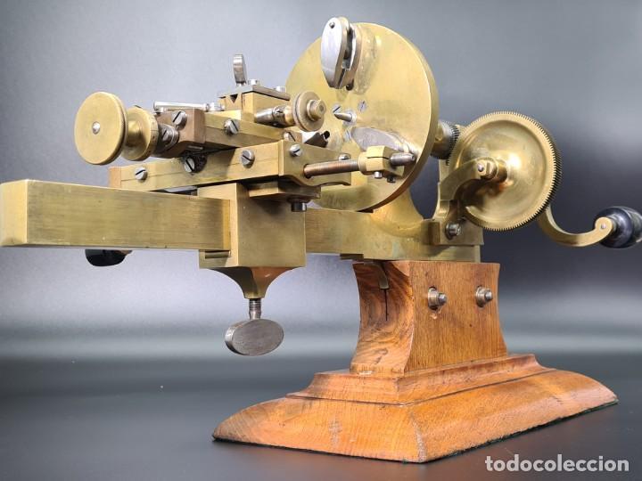 Herramientas de relojes: Antiguo Torno de Relojero S.XIX - Foto 18 - 244655680