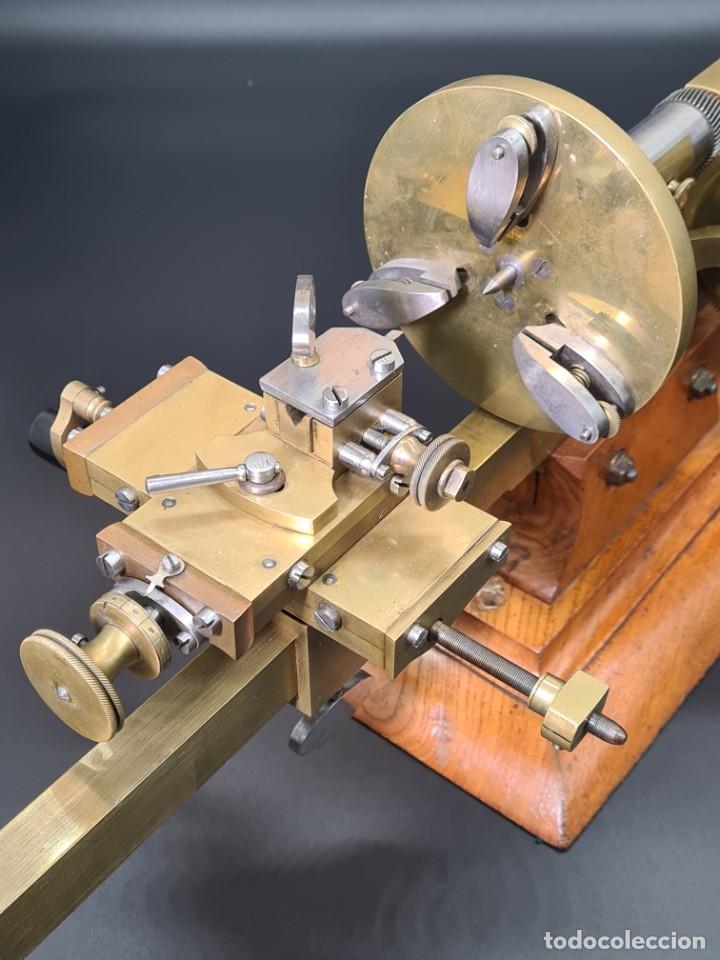 Herramientas de relojes: Antiguo Torno de Relojero S.XIX - Foto 19 - 244655680