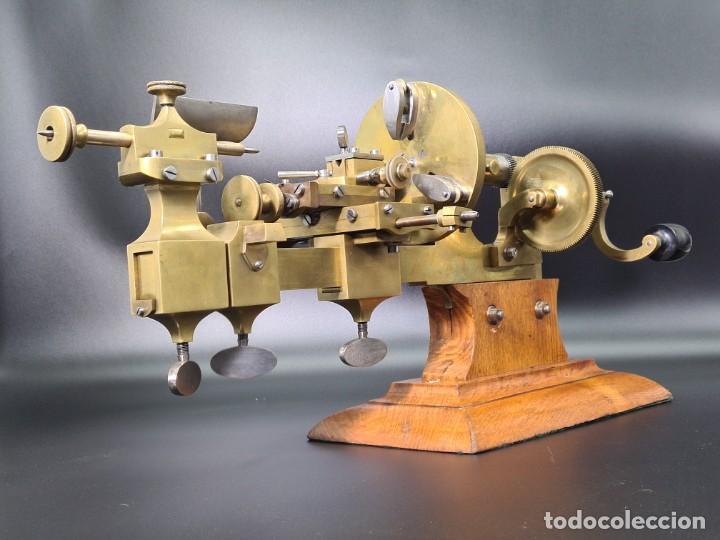 Herramientas de relojes: Antiguo Torno de Relojero S.XIX - Foto 20 - 244655680
