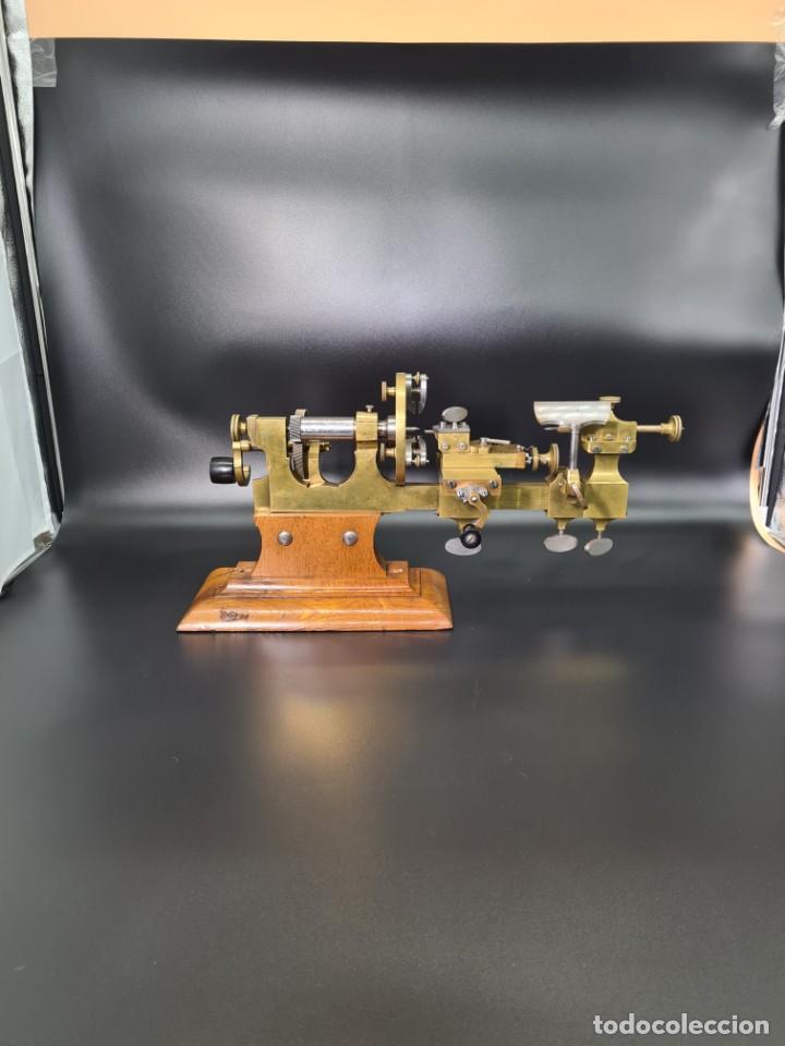 Herramientas de relojes: Antiguo Torno de Relojero S.XIX - Foto 23 - 244655680