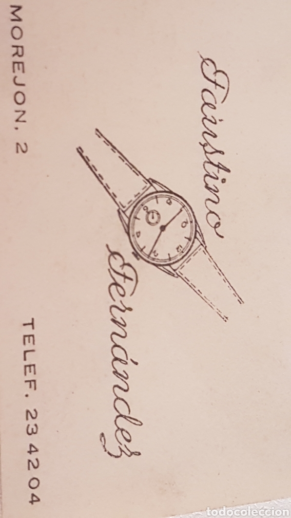 Herramientas de relojes: SELLO ANTIGUO RELOJERO FAUSTINO FERNANDEZ - Foto 4 - 244776840