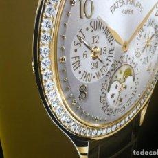 Herramientas de relojes: CUADRO, CARTEL GRANDE LUMINOSO DE PUBLICIDAD DE RELOJ PATEK PHILIPPE, DE EXPOSICION INTERIOR Y .... Lote 247124195