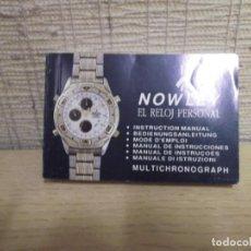 Herramientas de relojes: LIBRO INSTRUCCIONES NOWLEY MULTICHONOGRAPH.. Lote 251488770