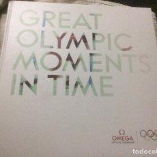 Herramientas de relojes: OMEGA GREAT OLYMPIC MOMENTS MOMENTOS OLIMPICOS EL TIEMPO EN LOS RECORDS COMO SE MIDE HISTORIA JUEGOS. Lote 254323575