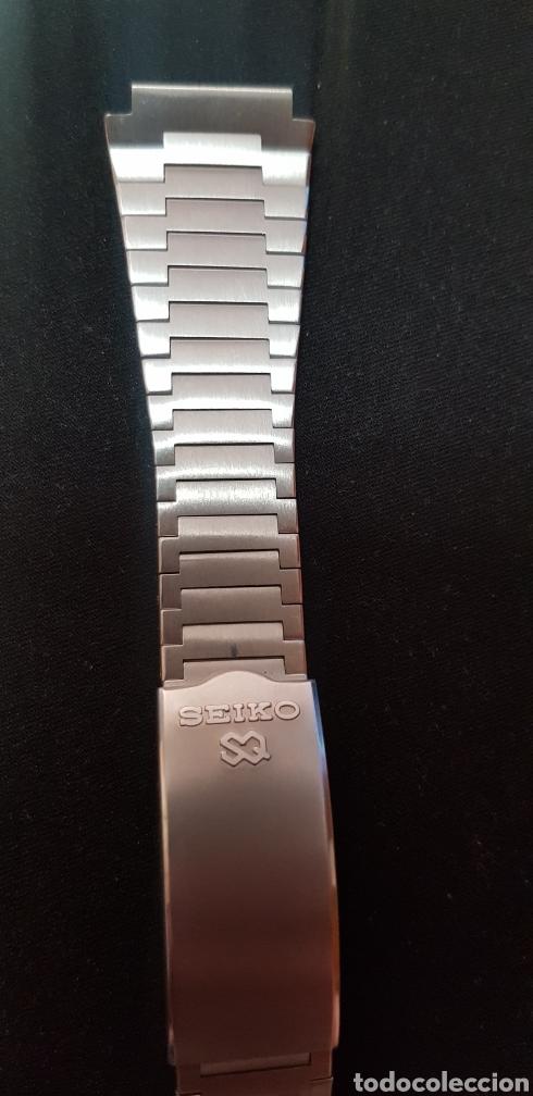 Herramientas de relojes: Pulsera de acero original Seiko 0624-5009 - Foto 4 - 263776975