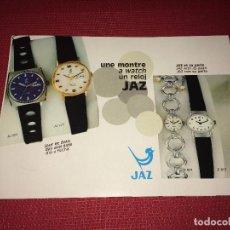 Outils d'horloger: CATÁLOGO RELOJES JAZ - FRANCIA - AÑOS 60/70 - TRÍPTICO. Lote 266572568