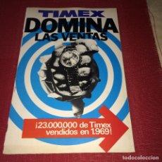 Outils d'horloger: RELOJ TIMEX - REVISTA/CATÁLOGO PUBLICITARIO - AÑO 1970 - MEDIDAS; 31 X 20,5 CMS.. Lote 266579088