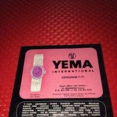 Herramientas de relojes: RELOJ YEMA - CATÁLOGO AÑO 1971. Lote 267366479