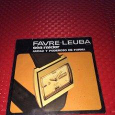Outils d'horloger: RELOJES FAVRE-LEUBA - AÑO 1970 - CATÁLOGO DESPLEGABLE. Lote 267367139