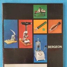 Ferramentas para relógios: ANTIGUO CATÁLOGO BERGEON, EDICIÓN ESPAÑOLA, AÑO 1981. Lote 276367138