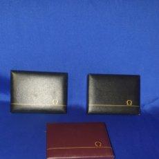 Herramientas de relojes: LOTE DE 3 CAJAS DE OMEGA ANTIGUA. Lote 288413338