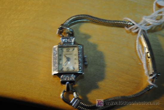 Relojes - Longines: RELOJ LONGINES DE SEÑORA AÑOS 30 DE ORO Y DIAMANTES. REDUCIDO TAMANO - Foto 5 - 144958778
