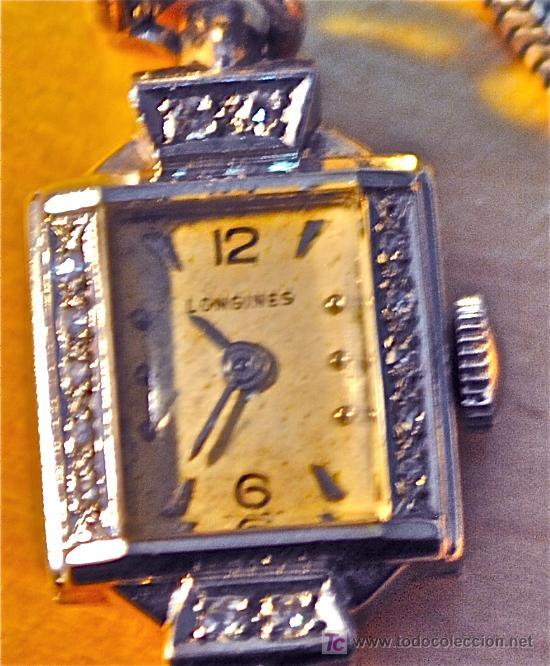 Relojes - Longines: RELOJ LONGINES DE SEÑORA AÑOS 30 DE ORO Y DIAMANTES. REDUCIDO TAMANO - Foto 3 - 144958778