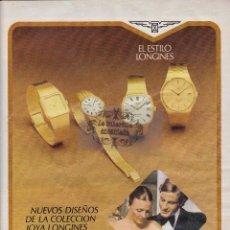 Relojes - Longines: PUBLICIDAD - COLECCION RELOJES - ANTIGUO ANUNCIO JOYA LONGINES LOGOS OLIMPIADA MOSCU 1980. Lote 44025264